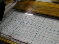 The PatternGrid®  used with a pantograph - a long-arm and short-arm machine quilting tool