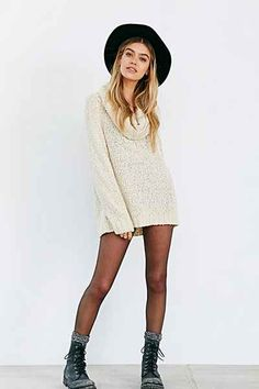 Ecote Slouchy Cowl-Neck Sweater - Urban Outfitters
