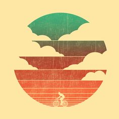 Go West (cycling edition) Art Print by Budi Satria Kwan on Sociery6