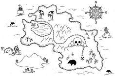 Treasure Island Treasure Map Coloring Book Buried Treasure PNG - art, artwork, auto part, black and white, book Pirate Treasure Maps, Pirate Maps, Buried Treasure, Pirate Theme, Coloring Book Pages, Coloring Pages For Kids, Treasure Map Drawing, Wallpaper Infantil, Map Invitation