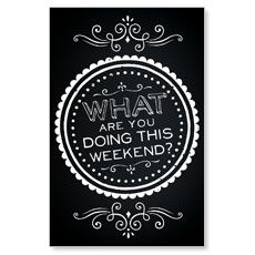 outreach.com                    Chalk Weekend Postcard