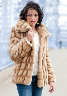 Champagne Mink Coat
