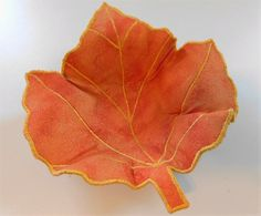 Leaf Fabric Bowl by BarbarasArtQuilts on Etsy