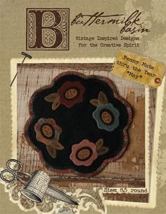 Pattern: Penny Table Mat Thru the Year-May by CottageThreadsShoppe