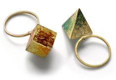 Graziano Visintin, rings, 2011, gold, enamel