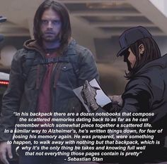 Do you realize what you've done. Do you realize that I will sob over a backpack if anything happens to it. I'll be doing a headcount in every scene. Steve: check; Sam: check; Bucky: check; backpack: check