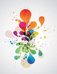 Colorful Abstract Splash Vector (Free) | Free Vector Archive