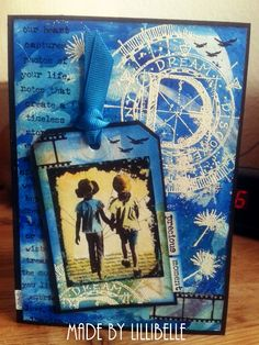 Card made with rubber stamps (Tim Holtz, Art Journey) and mixed media by http://lillibelles.blogspot.de/