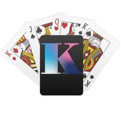 Capital Letter W Monogram Gradient Pink Blue White Playing Cards - initial gift idea style unique special diy Sri Ram Photos, Wedding Color Schemes, Wedding Colors, Create Your Own, Create Yourself, Pink Blue, Blue And White, Custom Deck Of Cards, Letter K