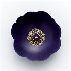 Blue Poppy, lacquer ware cup by Yoko NOGUCHI, Japan 幻の青い芥子 野口洋子
