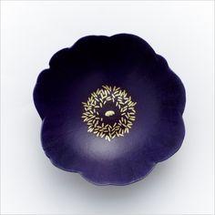 Blue Poppy, lacquer ware cup by Yoko NOGUCHI, Japan 幻の青い芥子 野口洋子
