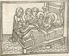 Hje vahet an ein spiegel menschlicher behaltnuß : . Daran: Müntzinger, Johannes: Expositio super oratione dominica <dt.> Huebsche außlegung des Pater nosters. Augsburg : Anton Sorg, 1476 2 Inc.c.a. 531 - Ink S-510 - GW M43012   Folio 7