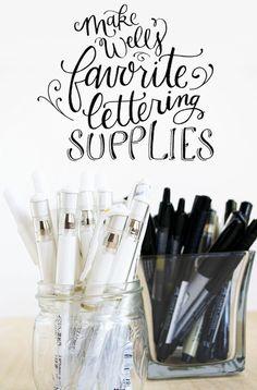 Lettering supplies & ideas