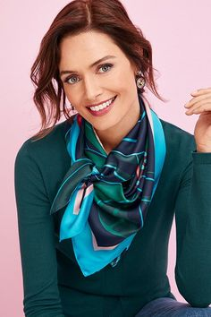 Meet fashion's most iconic accessory: the scarf! Read our Style Story for six ways to wear a scarf & support one amazing cause. Ways To Wear A Scarf, How To Wear Scarves, Vintage Fashion 1950s, Victorian Fashion, Bandana, Triangle Scarf, Fashion Story, Cashmere Scarf, Leopard Scarf