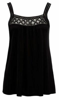Forever New - Katie Lattice Yoke Cami in Black