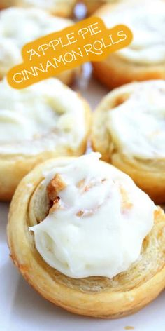 Kick off apple season with these Apple Pie Cinnamon Rolls! Made with puff pastry, they're a super-quick way to get your cinnamon roll fix! | The Bitter Side of Sweet