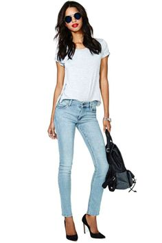 Cheap Monday Tight Skinny Jeans - Light Wash
