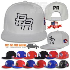 Hats 163543  Puerto Rico Snapback Hat Flag 3D Pr Metal Flat Bill Rico  Baseball Poly Cap New -  BUY IT NOW ONLY   14.95 on  eBay  puerto  snapback   metal   ... 606f5f4a5