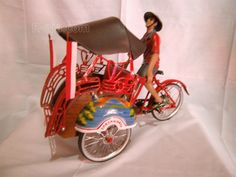 Craft miniature trishaw