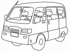 Mini Vans Coloring Sheets Pages Primary School Transportation Vehicles Images Games Crayon Art