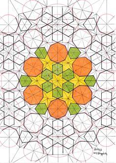 Pattern Designs, Pattern Ideas, Pattern Art, Geometric Drawing, Geometric Art, Drawing Sketches, Sketching, Drawings, Motifs Islamiques