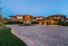 Location: 7 Falcon View Court, Las Vegas, NV Square Footage: 14,464 Bedrooms & Bathrooms: 6 bedrooms & 9 bathrooms Price: $17,500,000 This newly listed Contemporary style mansion is located at
