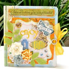 Adorable mini album made by Lu Minoti using Bo Bunny's Country Garden Collection!