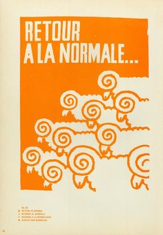 Return to Normal. Poster from May 1968 Paris