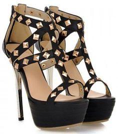a00bdbb96d7 Negros perlas doradas Heeled Boots
