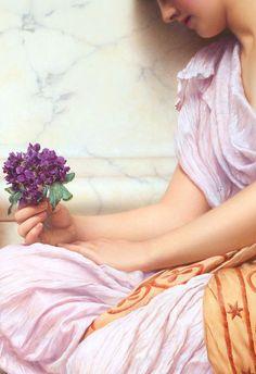 Violets,sweet violets (detail)1906,John William Godward.