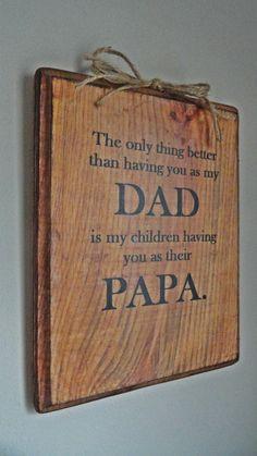 Geschenk für Vater, Opa, Papa, Papa zum Vatertag, Weihnachten, Geburtstag, rustikales Schild mit Phrase by AnnabelleEveDesigns on Etsy