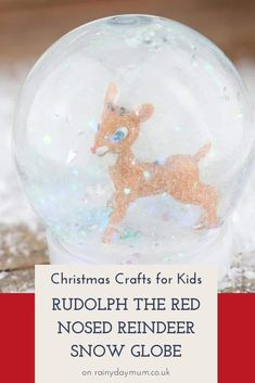 DIY Snow Globe project for kids to make with cute Rudolph Toys. Easy and simple to do.Check out the top tips for getting the snow to fall best and how to stop your youngest kids from getting water everywhere.#easycraftsforkids #kidscrafts #christmascrafts #simplecrafts #rainydaymum #storybookadvent Best Christmas Books, Christmas Crafts For Kids To Make, Easy Crafts For Kids, Christmas Decorations To Make, Kids Christmas, Rudolph Christmas, Handmade Christmas, Snow Globe Crafts, Diy Snow Globe