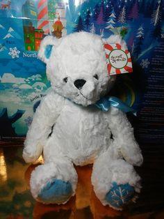Animal Adventure Sweet Sprouts Teddy Bear Plush White Polar Bear Snowflake #SweetSprouts