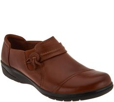 878b078eec5 Clarks Leather Slip-on Shoes - Cheyn Madi