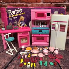 Vintage Barbie So Much To Do Kitchen Set Mattel 1994 #67158 Stove Fridge Sink  | eBay