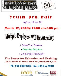Looking for work? Don't miss our May Job Fair at - to Three different employers hiring for ELEVEN different positions! Youth Programs, Job Fair, Education And Training, Dress For Success, Job Search, Rsvp, Resume, Centre