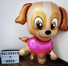 Foil balloon - PUPPY (pink)