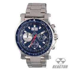 Reactor Watches VALKYRIE BLUE Chronograph Steel Band Pilots Watch