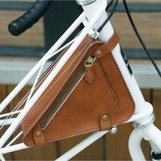 Naborsa Bicycle Leather Bag For Moulton TSR bike