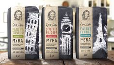 Flour package design on Behance