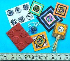 Jogo de 6 selos Inchies Unmounted Borracha - Borracha Natureza projetos por Sandi Obertin