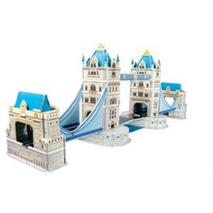 Tower Bridge is a combined bascule and suspension bridge in London, England over the River Thames. This cardboard model is fun and simple for all ages to build. Cardboard Model, Gifted Education, Over The River, Suspension Bridge, River Thames, Tower Bridge, Gift Ideas, London, Building