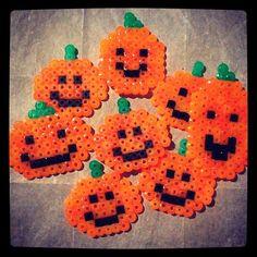Halloween pumpkin patch perler beads by ashleyeglidewell