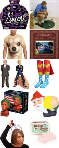 My Picks: Funniest White Elephant Gifts Awkward Family Photos, Dear Santa, White Elephant Gifts, Style Me, Funny, Stuff To Buy, Giveaways, Holiday Decorating, Spiders