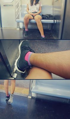 """Alicen Grey – Hairy Legs (Sep 2015) – An Open Letter To the Three Women Who Were Pointing and Laughing At My Hairy Legs on the Subway: """" I still have faith in you. We can do better."""" @ http://www.xojane.com/issues/women-with-hairy-legs"""