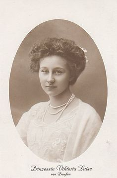 """""""I was called 'Sissy' by my family. My brother Oskar called me 'Mouse', and my eldest brother, Wilhelm, called me Little Sister'."""" ~Princess Viktoria Luise of Prussia"""