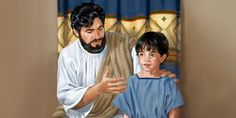 Jesus and a young child