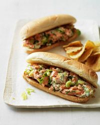 Let your taste buds swim in a metaphorical sea of good taste with these Lobster-Roll-Style Salmon Sandwiches. #greypoupon