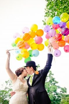 I would love this at the entrance to the ceremony to have guests write blessings & attach them to the strings of the balloons and later release them at the start of the reception!