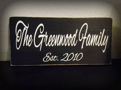 Custom Family Established Wooden Sign by TANDTAPPAREL on Etsy